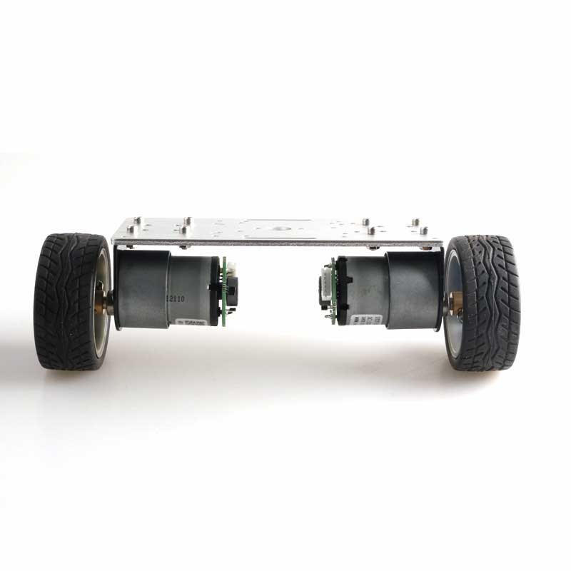 2WD Balance Car Chassis Smart Robot Car Kit Silver Panel/65mm Wheel/37-520 Motor with Code Wheel