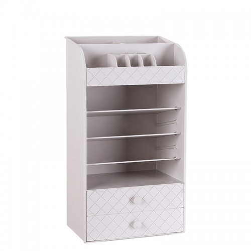 White Plastic Jewelry Cosmetic Storage Bag Small Drawer Organizer Box Multi-functional Desk Sundries Makeup Storage Case Container