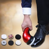 Portable Handheld Automatic Electric Shoe Cleaning Brush Shine Polisher 2 Ways Power Supply EU Plug