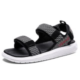 Men Canvas Hook&Loop Casual Slip Resistant Beach Sandals