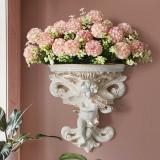 Cupid Angel Plaster Corbel Shelf Rack Resin Figurine Top Flower Insert Wall Art Decor
