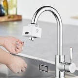 Contactless Dual-Sensor Faucet Automatic Infrared Induction Faucet Water Saving Device For Kitchen Bathroom USB Charging IPX6 Waterproof