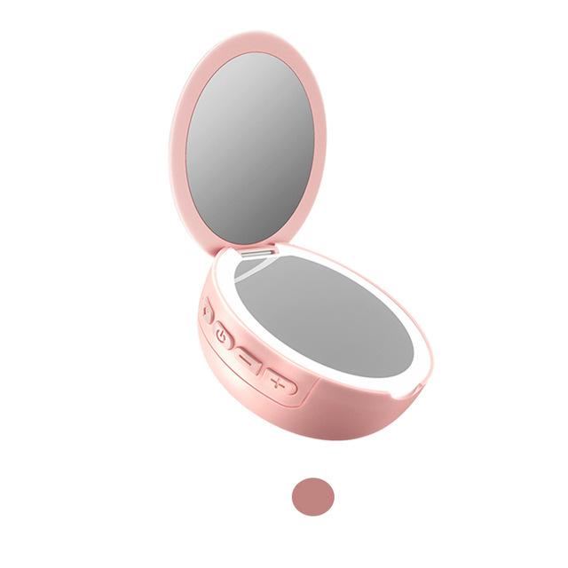 Bakeey M6 Fashion Pocket Mirror Wireless bluetooth Speaker Fill Light Mini Portable Outdoor Speaker
