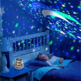 Colorful Starry Sky Projector Night Light Rotation Starry Moon Night Lamp USB Charging Children Room Lighting Children's gifts