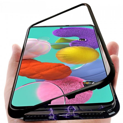 Bakeey Metal Magnetic Adsorption Flip Tempered Glass Protective Case for Samsung Galaxy A71 2019