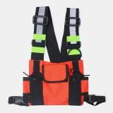Men Women Oxford Vest Reflective Tactical Chest Bag Crossbody Bag Cool Bag