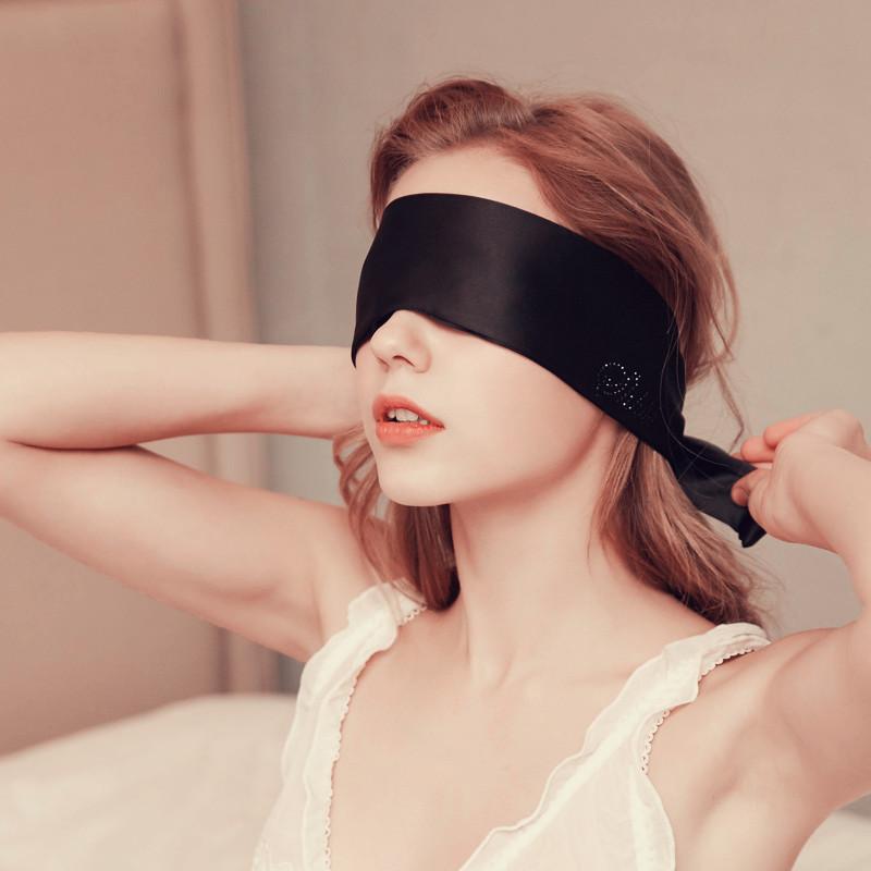 Sleeping Eye Mask Blindfold Mask Black Satin Bundled Hands Ribbon Silky Eye Mask Sleeping Eye Mask Eye Patch