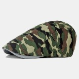 Men Camo Beret Hat Fashion Washed Cap Universal Forward Cap Beret Caps