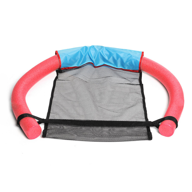 Summer Swimming Floating Chair Mesh Seats Pool Hammock Noodle Sling Swimming Net Float Seat