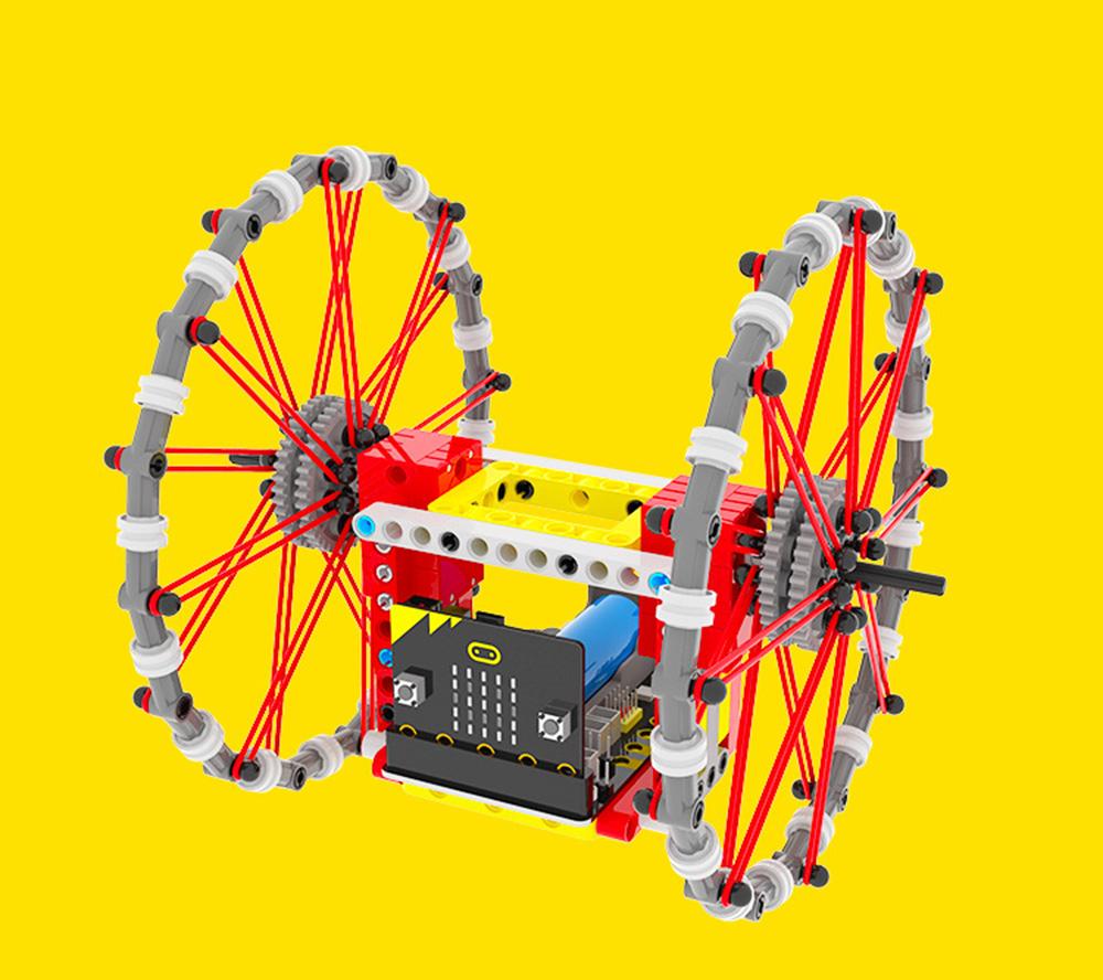 Yahboom DIY STEAM Micro:bit Self-Balancing Block Building Smart RC Robot Car Programmable APP Control Educational Robot Kit