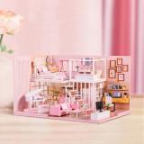 DIY Creative Handmade House Educational Toys Girl Heart Birthday Gift Doll House