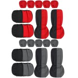 9pcs Car Seat Cover Full Set Front Rear Seat Back Protector Washable Universal