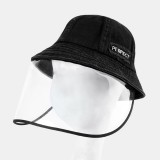 Adjustable Sun Hat With Large Eaves Anti-fog Removable Bucket Hat