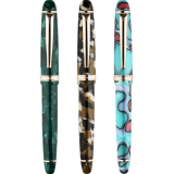 MoonMan S3 Multicolor Resin Fountain Pen 0.5mm F Nib Golden Adult Student Writing Signing Pen Gift