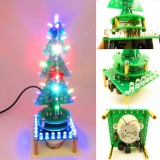 Geekcreit DIY Rotating Colorful Music Christmas Tree LED Flashing Light Kit Electronic DIY Production Parts