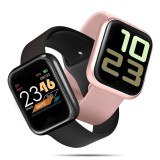 [Two Straps] Bakeey P70S Heart Rate Blood Pressure Oxygen Monitor 1.3inch Color Screen Weather Push IP68 Smart Watch