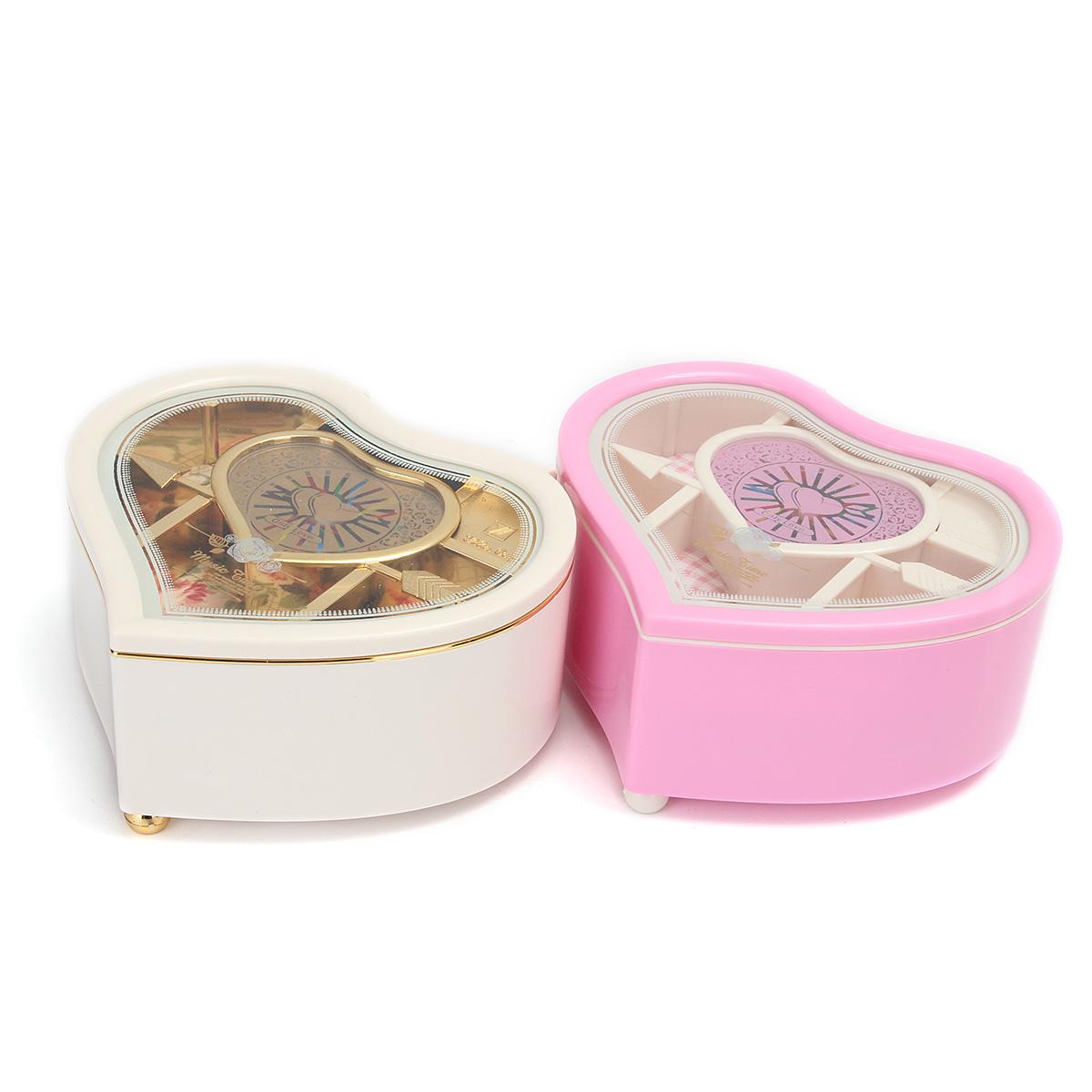 Kid Heart Shaped Jewellery Music Box Ballerina Xmas Toy Gift Home Decor