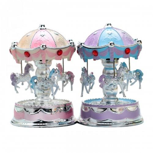 Carousel LED Light Music Box Romantic Gift Clockwork Music Box
