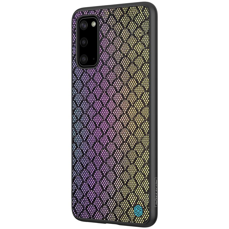 NILLKIN Luxury Luster Twinkle Shield Woven Polyester + PU Leather Hard Back Protective Case for Samsung Galaxy S20 2020