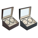 Automatic 4+6 Watch Winder Rotator Storage Case Display Watch Box