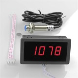 High Precision Digital Frequency Tachometer 0.56″ 4 LED DC 8-15V Car Motor Speed Meter RPM Speed Tester 5-9999R/M