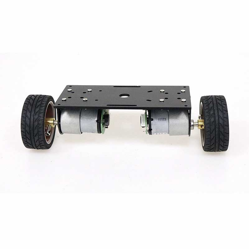 Self Balancing Trolley Chassis Smart Robot Car DIY Kit 65mm Plastic Wheel/Black Aluminum Panel/37-520 Motor with Code Wheel