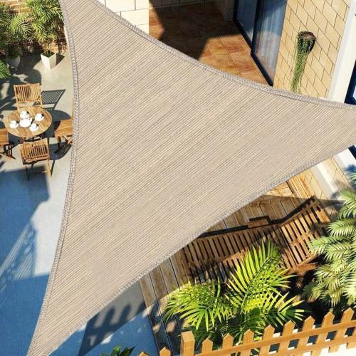 300D Kahki Heavy Duty Shade Sail Sun Outdoor Garden Patio Awning Canopy UV Protection Cover