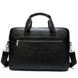 MVA 8824 Men Business Genuine Leather Briefcase Messenger Bag Male Laptop Tablet Office Shoulder Bag for iPad 9.7 inch