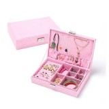 Jewelry Box Earring Ring Flannel Jewelry Box Ring Display Case Box DIY Jewelry Storage
