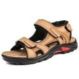 Men Genuine Leather Slip Resistant Casual Soft Sole Outdoor Sandals