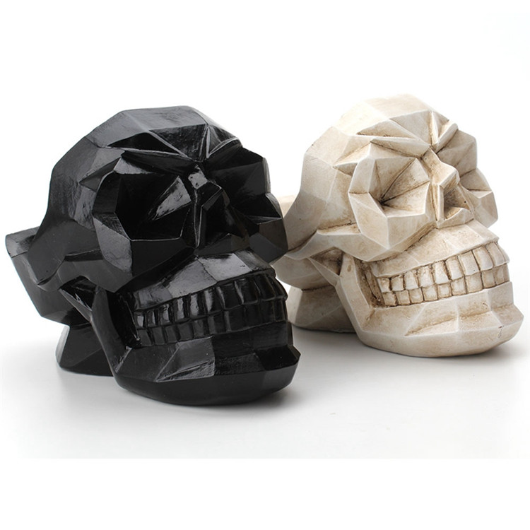 Bakeey Abstract Skull Pattern Resin Desktop Phone Holder Storage Box Office Bar Home Crafts Ornaments Model