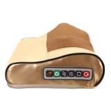 Electric Lumbar Neck Back Massage Pillow Cushion Infrared Heating Kneading Body Massager