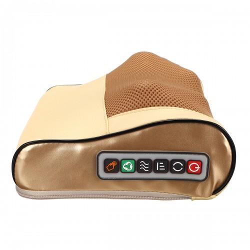 Electric Lumbar Neck Back Massage Pillow Cushion Infrared Heating Kneading Body Massager