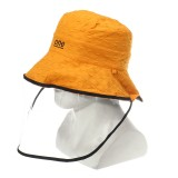 Fisherman Cap Bucket Hat Summer Unisex Anti-spitting Dustproof Hat Sun Wide Brim Protective