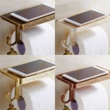 Roll Stand Wall Mounted 4 Colors Vintage Bathroom Toilet Paper Holder Tissue Wall Mounted