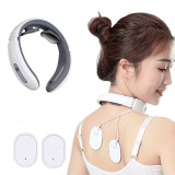 JT-500 Electric Pulse Neck Massager Far Infrared Heating Cervical Vertebra Treatment Pain Relief Tool Health Care Relaxation Electric Massager
