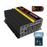 iMars EP2000 Intelligent Screen Pure Sine Wave Car Power Inverter 12V To 220V 4000W Converter with Remote Control