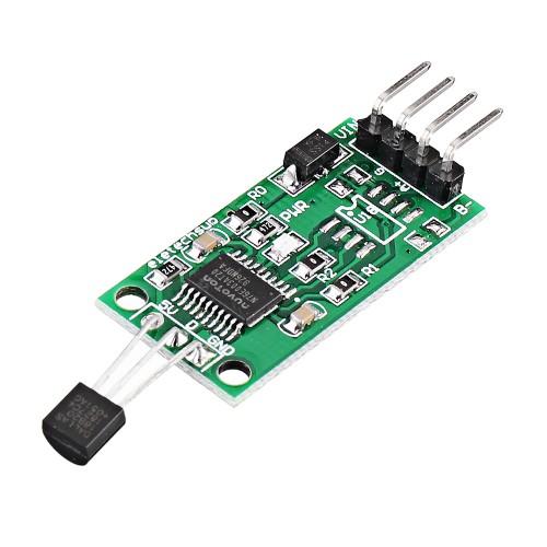5pcs DS18B20 5V RS485 Com UART Temperature Acquisition Sensor Module Modbus RTU PC PLC MCU Digital Thermometer