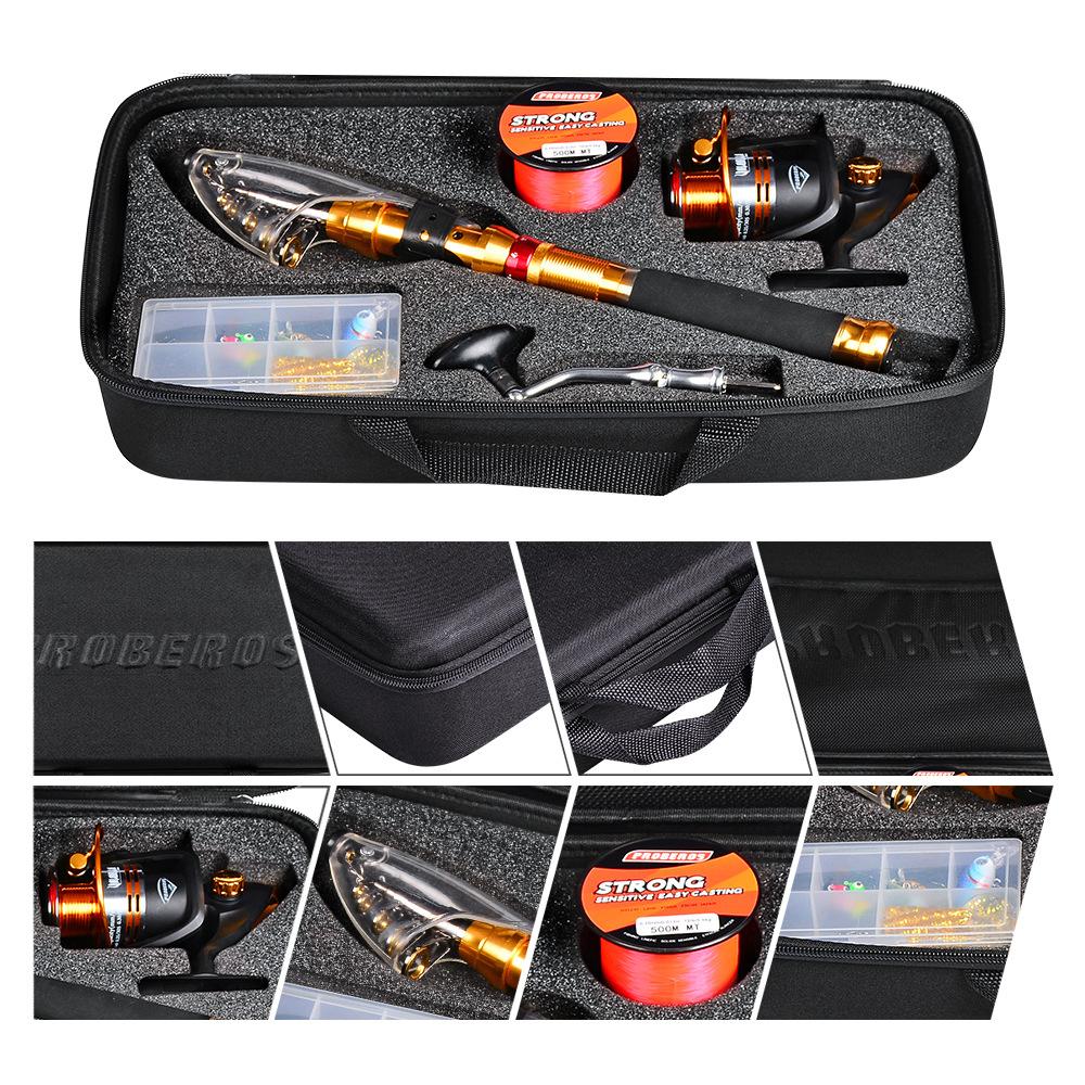 Proberos 1.8M/2.1M/2.5M/2.7M Carbon Fibre Long-Range Fishing Rod + Fishing Reel + Fishing Line + Fishing Bag + Bait Box Fishing Tackle Set Fishing Rod Reel Combo