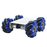 D-44 DIY Smart Metal RC Robot Car Chassis Base With 103mm Omni Wheels
