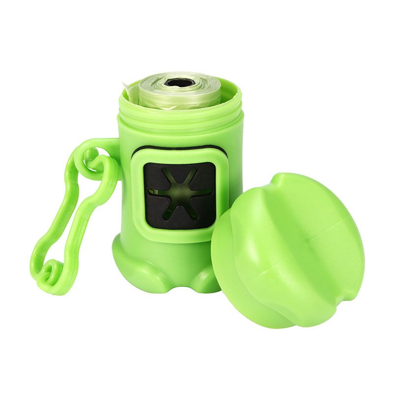 Portable Bone Shape Pet Dog Pick-Up Bags Pooper Toilet Plastic Bag Poop Picker Pet Supplies