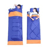 IPRee 3 in 1 Outdoor Camping Sleeping Bag Ultralight 2 Person Envelope Lovers Sleeping Bag Spring Autumn (185+35)*150cm