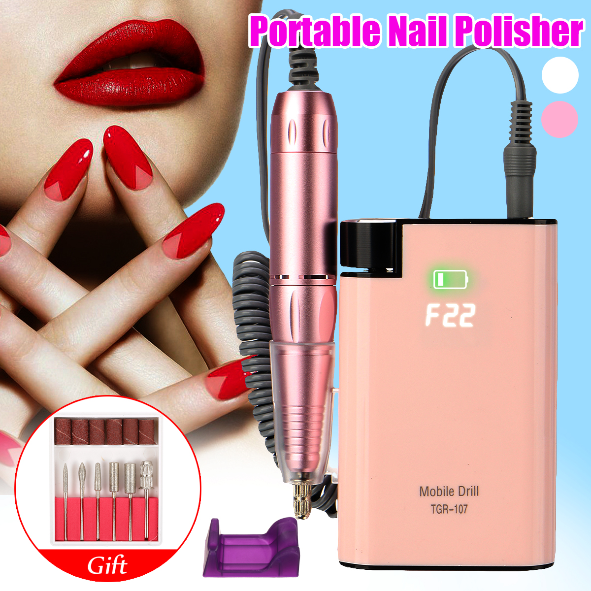 Charging 110 ~ 220V Wide Voltage Portable Nail Polisher