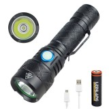 XANES SST40 LED Flashlight 4 Modes USB Rechargeable 18650 Battery IPX5 Waterproof Torch Light
