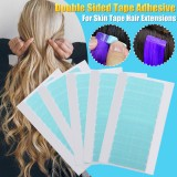 120Pcs Super Strong Blue Double Sided Tape Adhesive For Hair Extensions