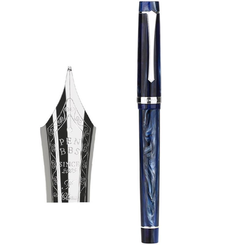 Penbbs 352 Resin Fountain Pen Nib 0.5mm F Rotary Inking Writing Signing Pen Gift