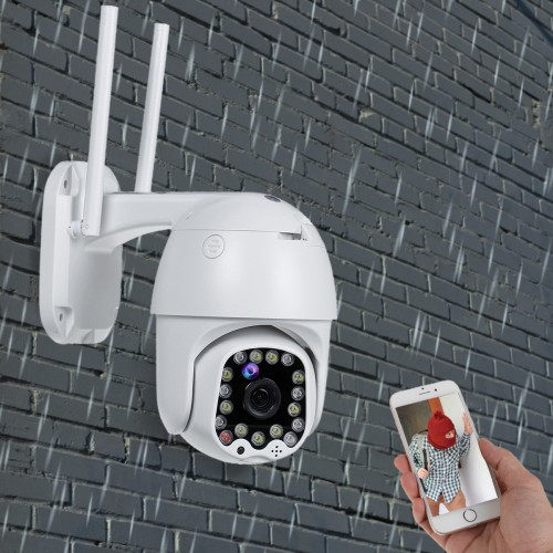 1080P 2MP PTZ WIFI IP Camera Security 17LED CCTV Auto Tracking Outdoor Waterproof
