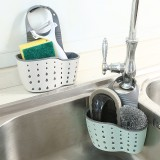 Kitchen Sponge Drain Holder Suction Cup Sink Shelf Soap Sucker Storage Rack Basket Wash Cloth
