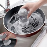 Household Kitchen Washing Utensils Pot Dish Brush with Liquid Washing Soap Dispenser Pot Brush Dish Brushes Cleaning Tool