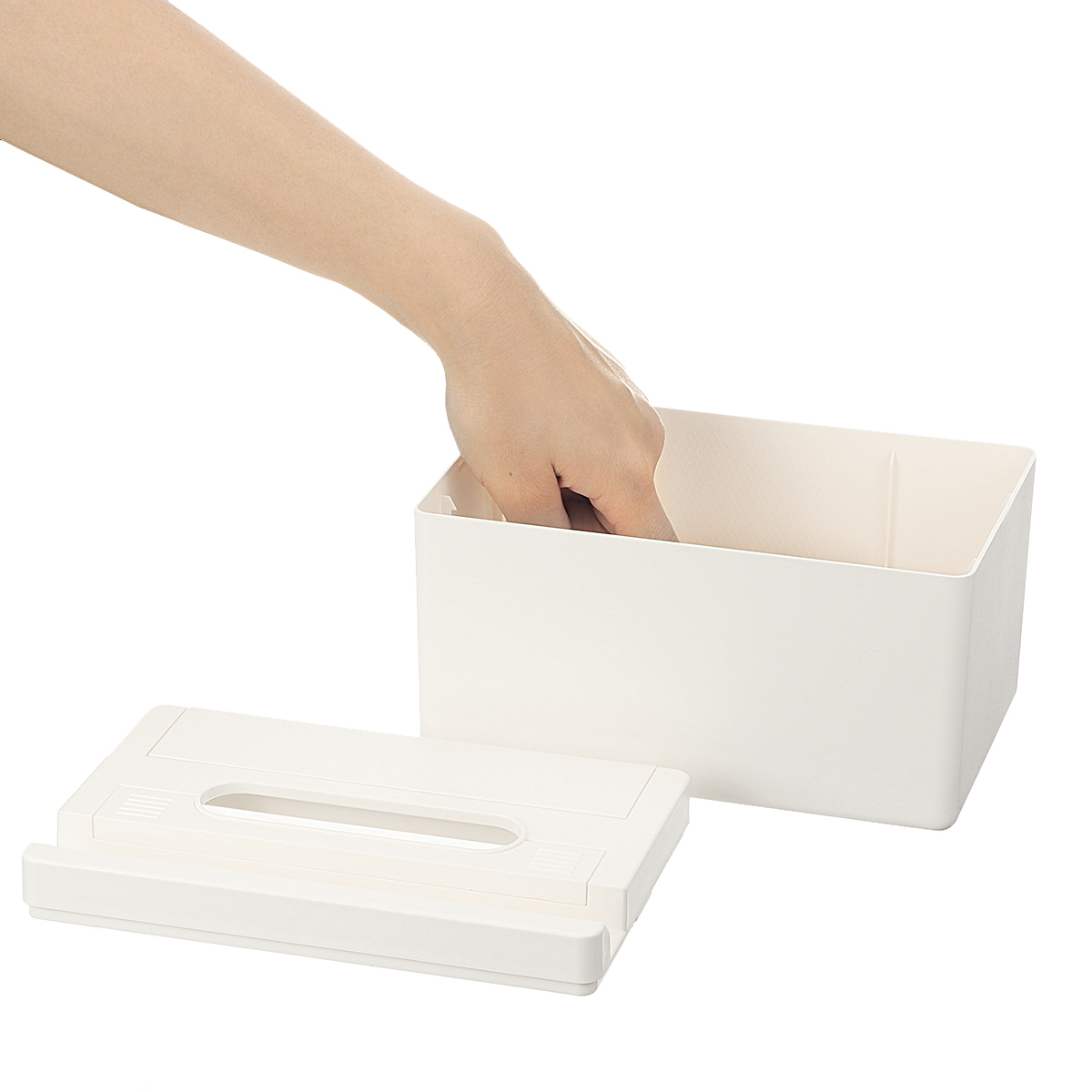 Multifunctional Automatic Lift Tissue Box Case ABS Home Storage Box Paper Towel Organizer Automatic Lifting Storage Holder Table Decoration Container
